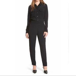Madewell Pull On Black Jumpsuit Medium